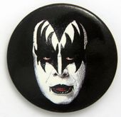 Kiss - 'Gene Make-Up' Large Button Badge
